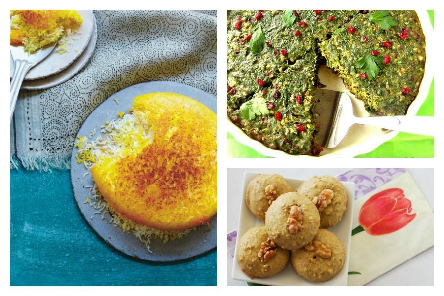 Norwuz, Persian New Year recipes at Cool Mom Eats, including: Persian Rice at Yasmin Khan | Kookoo Sabzi at Turmeric and Saffron | Persian Walnut Cookies at My Persian Kitchen