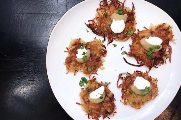 The best -- and simplest -- potato latkes recipe. Start Hanukkah here.
