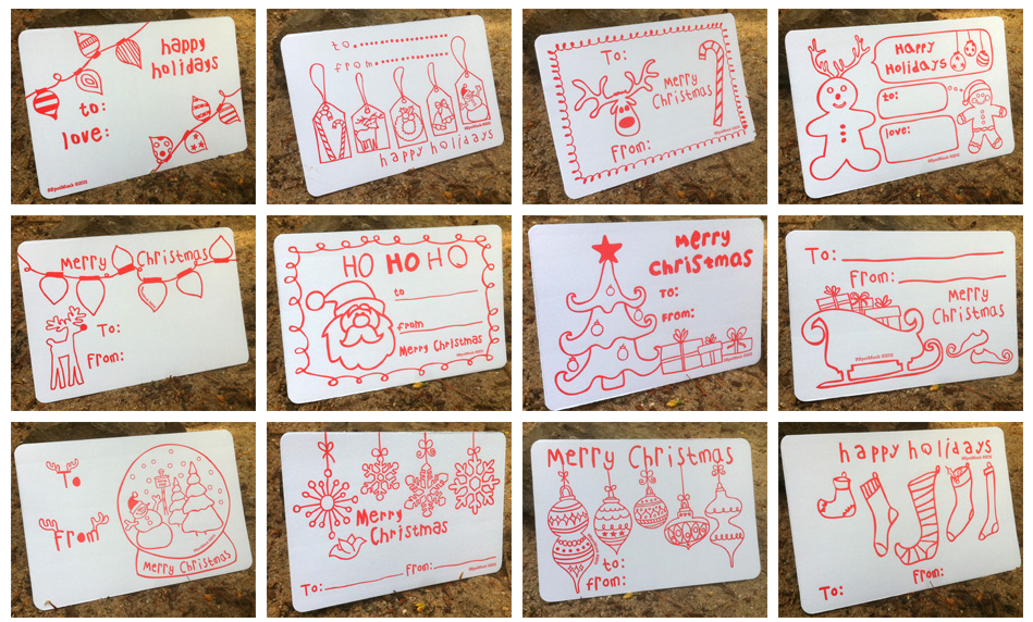 Keep your elves busy with these Color-in Gift Tags