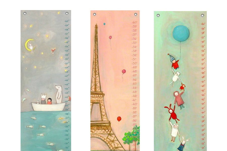 Adorable growth charts from Creative Thursday, for adorably growing children