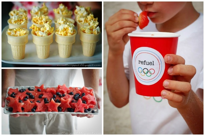 Throwing an Olympics Party? Some of the coolest printables, snacks, and party ideas