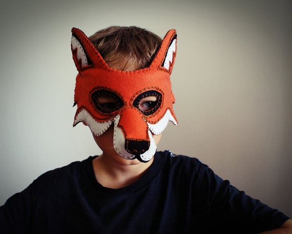 What does the fox say? Make these masks for Halloween and find out.