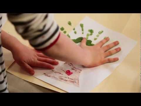 DIY Valentine's Day craft video: Keepsake handmade handprint card