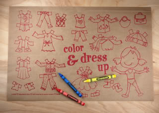 Kids placemats are almost too cute to cover with food