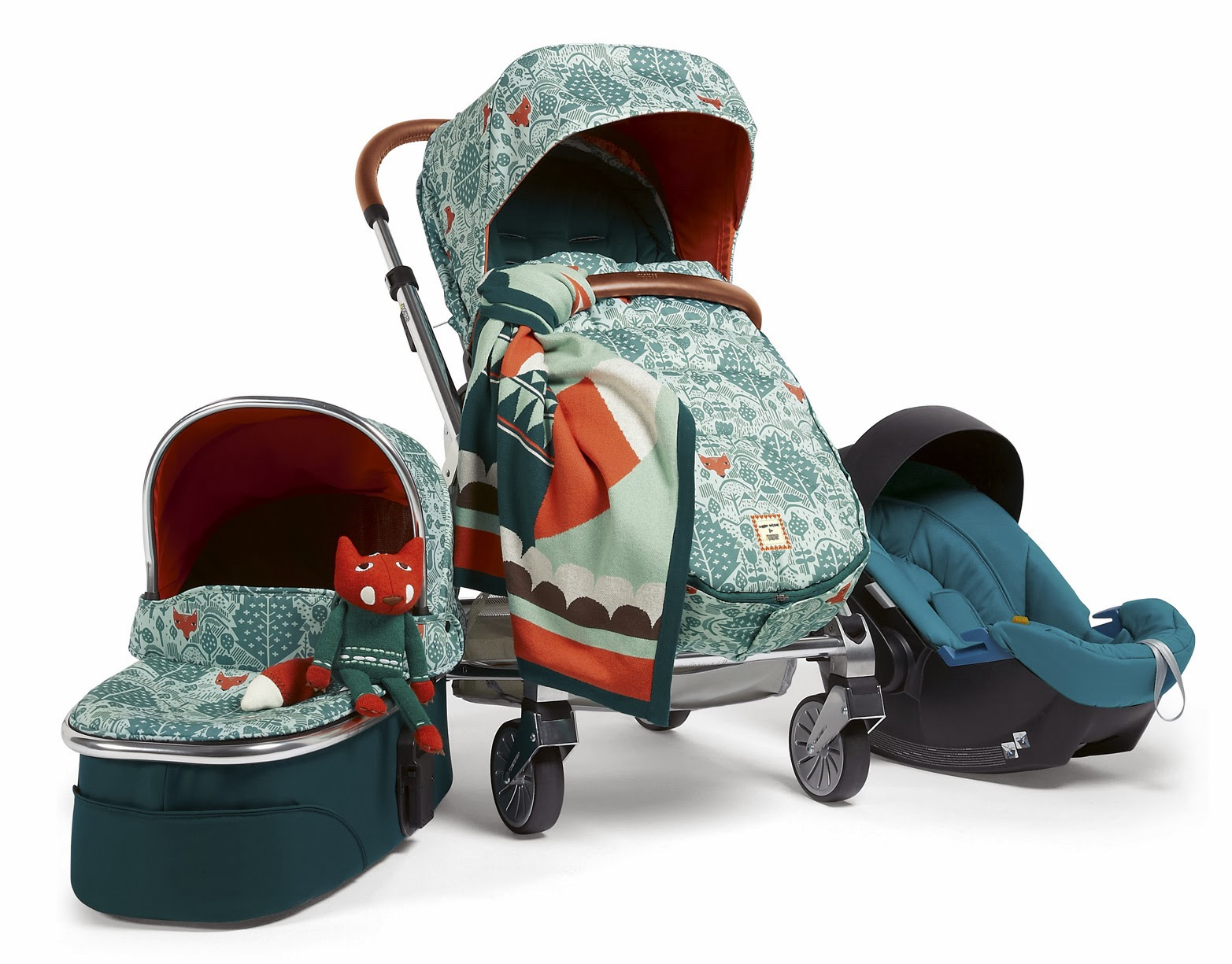 We know what the fox says. And we know his preferred ride: the special-edition stroller from Mamas & Papas