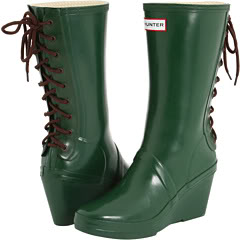 Hunter rain boots that stand out from the crowd