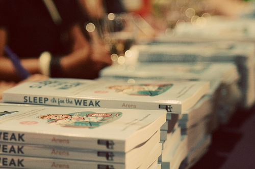 Sleep is For the Weak book signing, Brooklyn edition