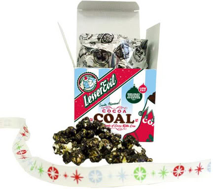 Lesser Evil makes getting coal in your stocking a thing of pure unadulterated awesomeness