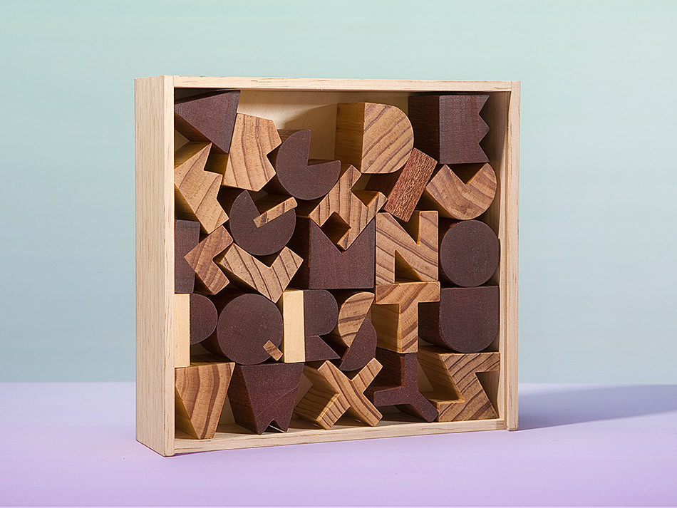 Alphabet lovers young and old will swoon over these gorgeous blocks