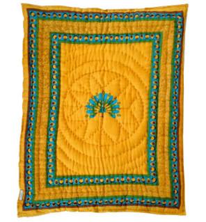 Elegant, exotic blankets for baby? How bazaar!