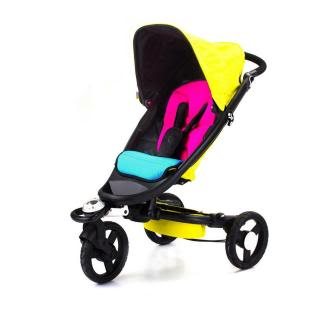Bloom strollers blend neon with zen and it totally works