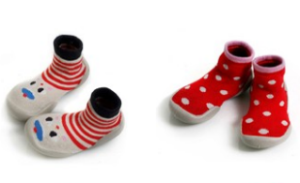Slipper socks with oh-la-la