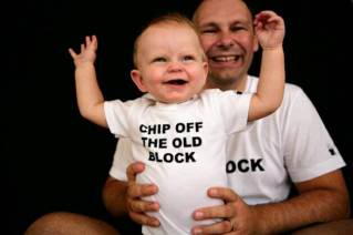 Daddy and me shirts for Father's Day – admit it. It's adorable.