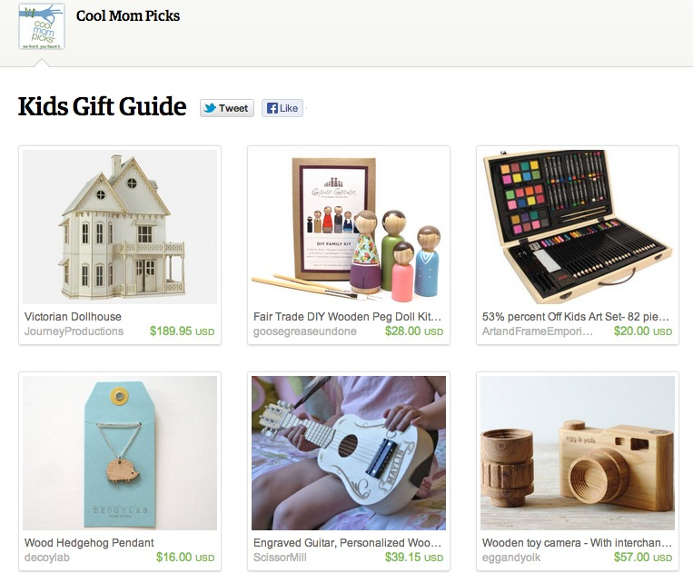 Holiday shopping made easy with Etsy pages from tastemakers