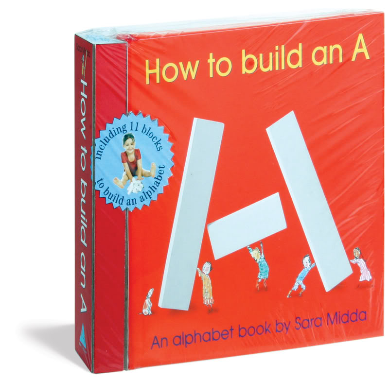 An ABC book that actually gets kids creating their own A's, B's and C's. And sometimes an alien robot.