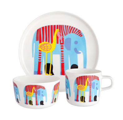 The kids' table is the place to be with Marimekko's fun, fancy dishes