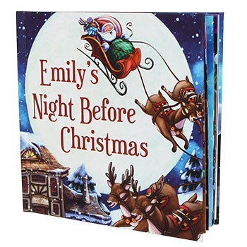A personalized Night Before Christmas book makes for a very special storytime
