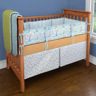 Can't find the perfect baby bedding? Design your own.