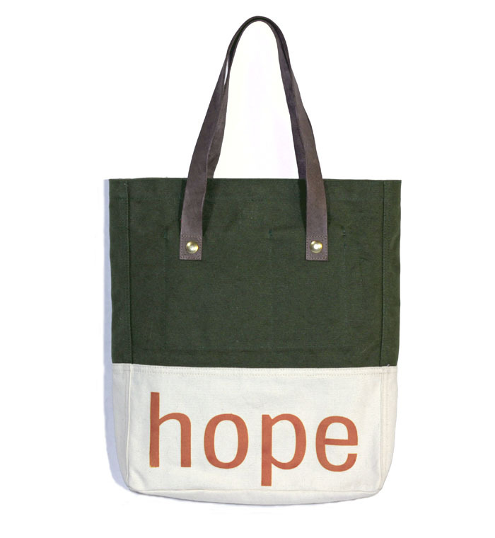 A simple tote bag with a powerful mission of hope from ESPEROS