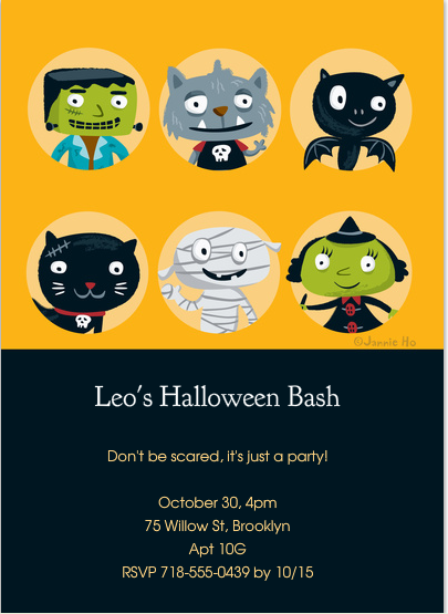 Frighteningly artful Halloween invitations