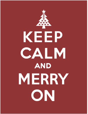 Happy happy and merry merry.