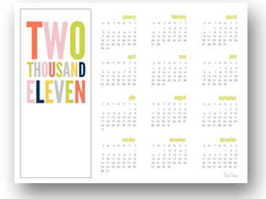2011 calendars that are printable. And pretty. And free.