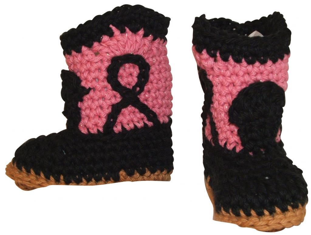 These booties are made for gawking (and raising money for breast cancer research)