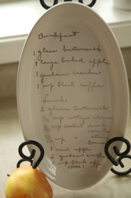 Instant heirlooms custom ceramic plates fired with handwritten family recipes & Instant heirlooms: custom ceramic plates fired with handwritten ...