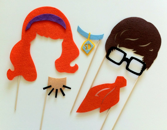 Fantastic felt party props for great photo booth opps.