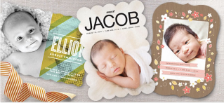 Beautiful birth announcements that are a cut above