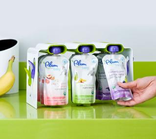 Boon + Plum Organics = Baby food pouch organizational zen