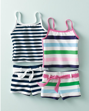 More bathing suits for little girls that are big on style, not skin