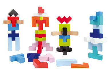 Tetris, now in 3D. Also, no screen.