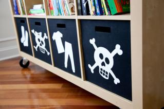 DIY silhouette storage organization tutorial that makes organization pretty!
