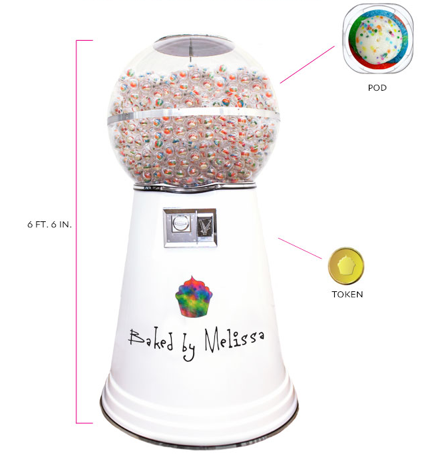 A giant gumball machine filled with cupcakes? Oh lord, yes