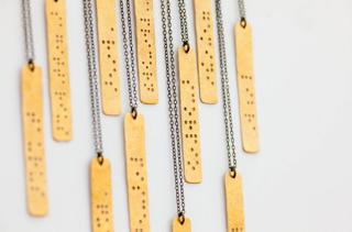 Beautiful braille jewelry: understatement is always in style