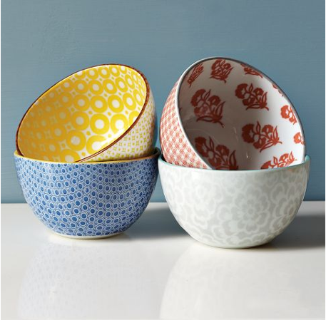 Pretty bowls make great hostess gifts. Especially when they're on sale.