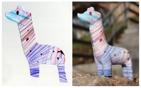 Turn your kids' drawings into figurines