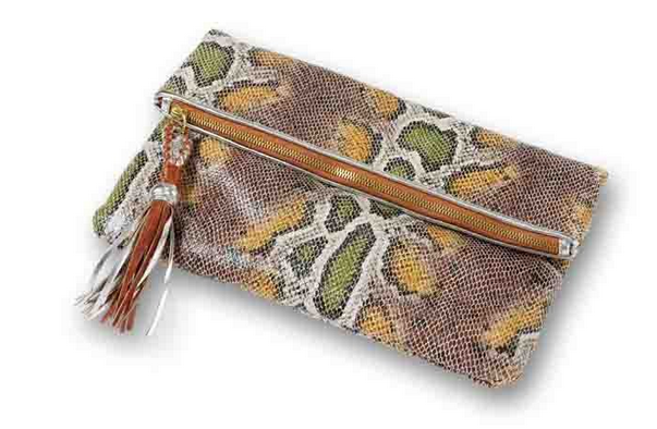 Gorgeous snakeskin clutches: the only snake I'll ever hold