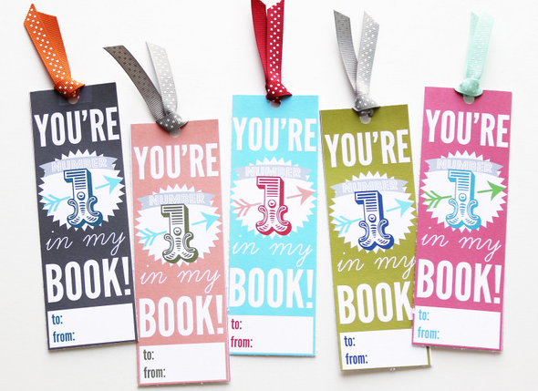 Free printable Valentines Bookmarks by Positively Splendid