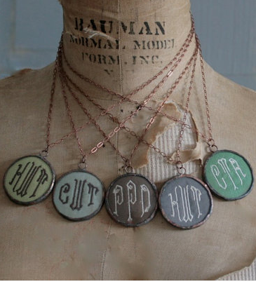A monogram necklace with character