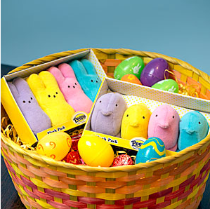 Cuddly plush Easter Peeps: still pretty sweet