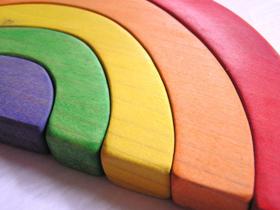 This Waldorf rainbow toy just needs a pot of gold