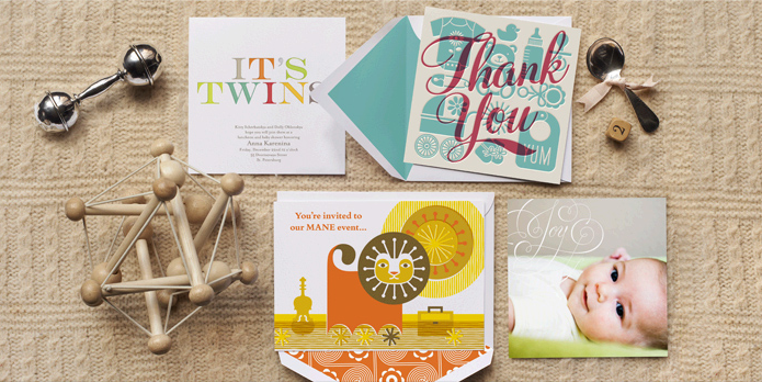 Sending beautiful birth announcements and baby shower invitations just got easier. Way easier.