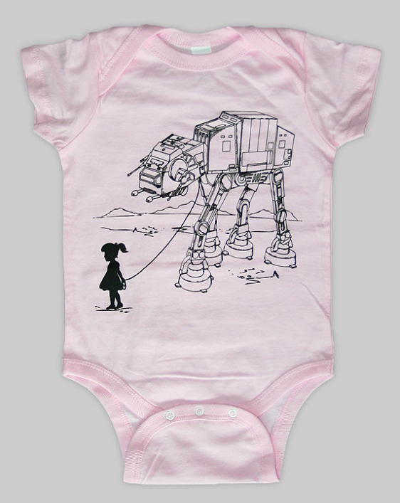 This Star Wars onesie is where it's AT-AT