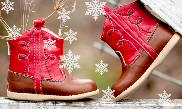 A happy new year starts with new shoes.
