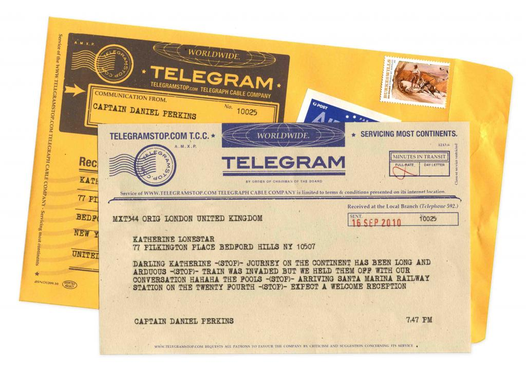 Baby is here -STOP- telegrams are back in style -STOP-