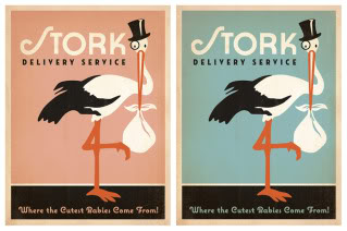 Stork calling, special delivery