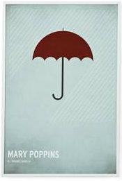 Minimalist posters from our favorite children's stories
