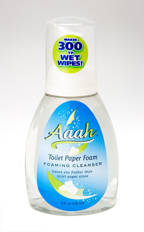 Aaah toilet paper foam: Because you-know-what happens.